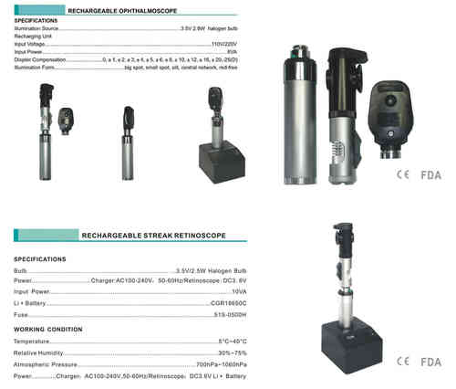 Ophthalmoscope and Retinoscope Set - Ex Display