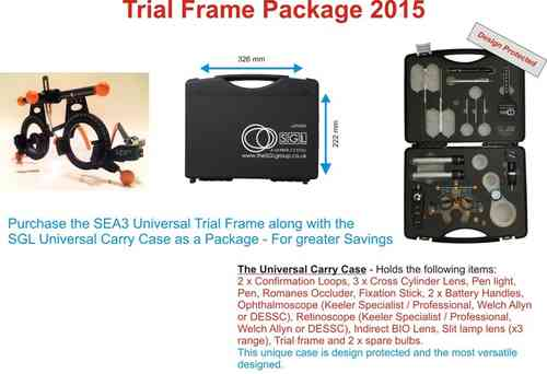 SEA3 Trial Frame and SGL Universal Carry Case Package